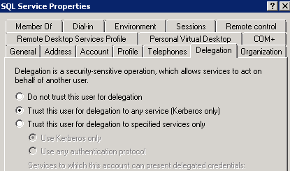 Credential Guard will cause Reporting Services Kerberos Unconstrained Delegation to fail